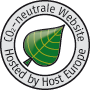 Website hundertprozent CO2 neutral mit Host Europe